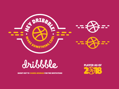 Hey Dribbble! print custom design palette color identity brand design badge