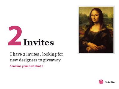 Dribbble Invites invitation invite giveaway