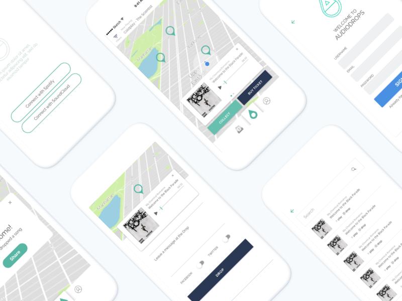Audio Drops App Design by Jiabing Song | Dribbble | Dribbble