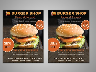 Burger Flyer happy hour hamburger grill fries food menu food fast food flyer fast food drink dinner cheeseburger burger poster burger menu burger flyer brand identity burger king burger branding minimal