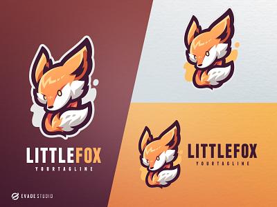 Little Fox fox branding animal mascot logo esportlogo design vector mascot illustration esports logo