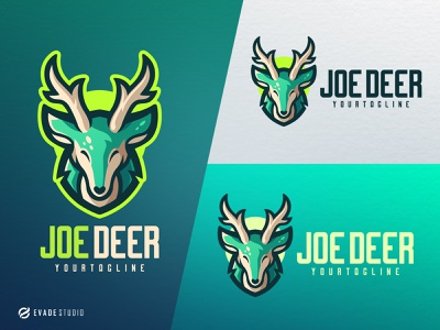 Joe Deer deer branding animal mascot logo esportlogo design vector mascot illustration esports logo