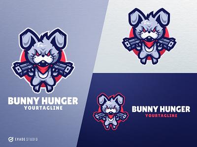 Bunny Hunger animal esportlogo esports bunny logo bunny head brand vector general company illustration esport mascot logo logoesport