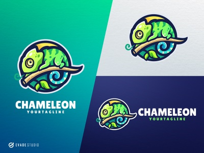 Chameleon esportlogo reptile chameleon head brand vector general company illustration esport mascot logo logoesport