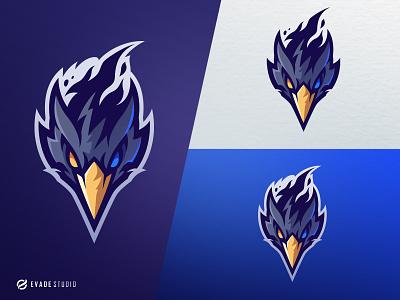 Crow mascot logo design esports esportlogo bird crow head brand vector general company illustration esport mascot logo logoesport