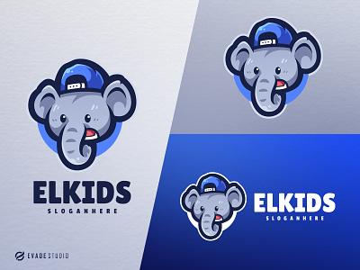 Elephand Kids animal mascot logo esports esportlogo elephant elephant logo head brand vector general company illustration esport mascot logo logoesport