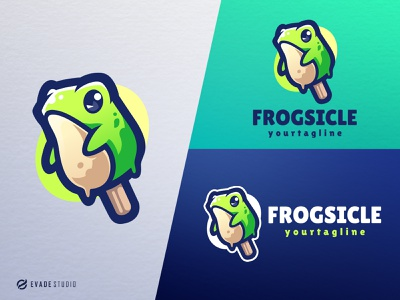 Frogsicle branding animal mascot logo design esports esportlogo frog head brand vector general company illustration esport mascot logo logoesport