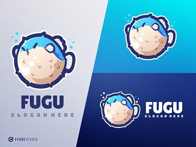 Fugu branding animal mascot logo esportlogo fugu fish logo fish head brand vector general company illustration esport mascot logo logoesport
