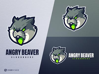 Beaver mascot logo esports esportlogo animal beaver head brand vector general company illustration esport mascot logo logoesport