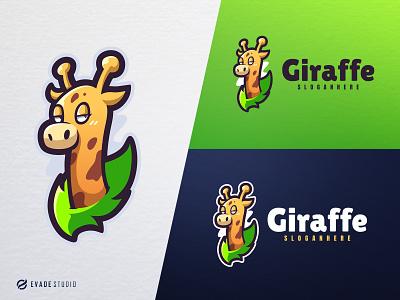 Giraffe animal mascot logo esports esportlogo giraffe head brand vector general company illustration esport mascot logo logoesport