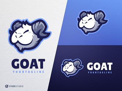 Goat animal mascot logo esports esportlogo goat logo goats goat head brand vector general company illustration esport mascot logo logoesport