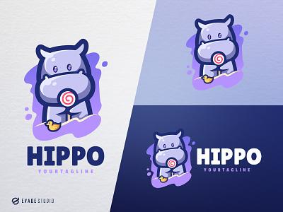 Hippo branding animal mascot logo esports esportlogo hippocampus hippo head brand vector general company illustration esport mascot logo logoesport