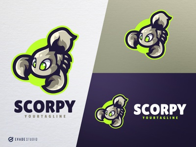 Scorpy design animal mascot logo esports esportlogo scorpion scorpio head brand vector general company illustration esport mascot logo logoesport