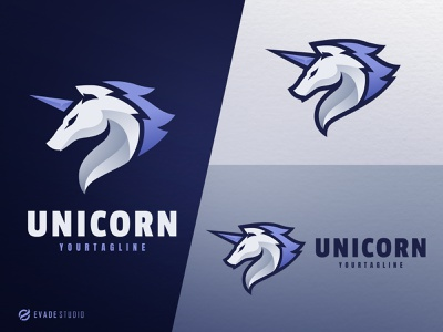 Unicorn design animal mascot logo esports esportlogo unicorn logo unicorn head brand vector general company illustration esport mascot logo logoesport