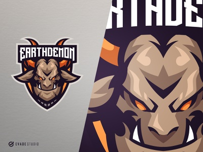 Earth Demon demon head brand vector general company illustration esport mascot logo logoesport