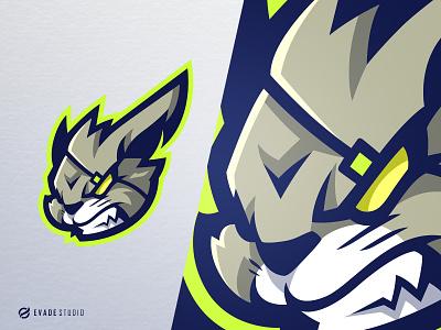 Rabbit animal rabbit head brand vector general company illustration esport mascot logo logoesport