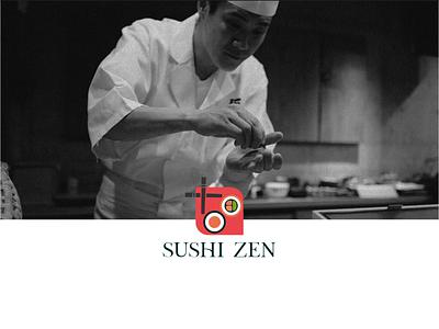 Sushi Zen sushi food vector typography japonese design logo branding