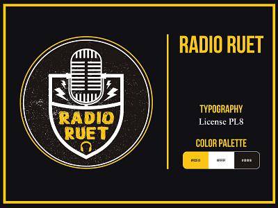 Radio RUET icon illustrator graphic design creative concept bangladesh radio logo design
