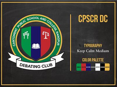 CPSCR DC concept creative graphic design vector logo design branding logo debate club club debate college school bangladesh adobe illustrator illustrator logo design