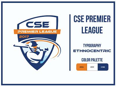 CSE Premier League tournament logo tournament sports logo sports univeristy cse cricket club adobe illustrator logo design illustrator graphic design concept bangladesh
