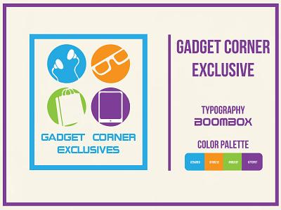 Gadget Corner Exclusive graphic cumilla marekt shop gadget ui branding logo design adobe illustrator logo design illustrator graphic design concept bangladesh