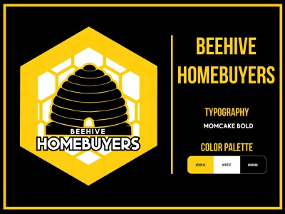 Beehive Homebuyers realestateagent real estate logo realestate housing business home usa vector logo illustrator graphic design concept branding adobe illustrator logo design