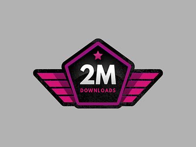 2 Million Downloads Sticker million sticker badge