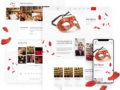 Iris Opera - Website for Mezzo Soprano Opera Singer opera mobile design desktop design logo design branding logo design website design webdesign ux ui responsive website design responsive design design