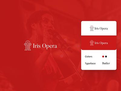 Logo Design for Iris Opera mezzo soprano opera singer logo design logo design concept logo design vector branding logo