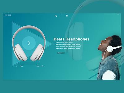 For Music Lovers! website webdesign ui