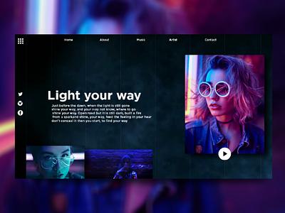 Light your way! deibbble design webdesign ui