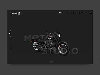 Kawasaki Motor Studio web deibbble design webdesign ui website webdesign ui webdesign website design ui ux illustration design