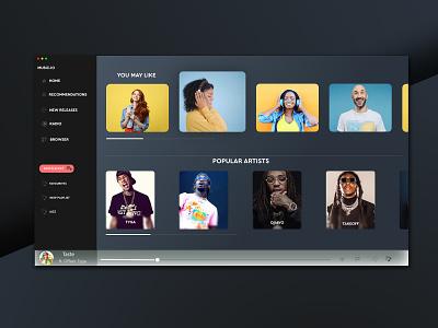 Music Gallery illustration webdesign website design ui webdesign website web ui branding ux website webdesign ui deibbble design webdesign ui