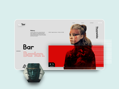Barbarians website design ui ux illustrator