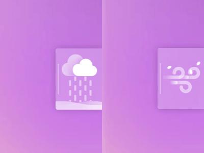 weather widget motion design cloud leaf ae gif wind rain design motion widget weather