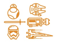 The Force Awakens Icons