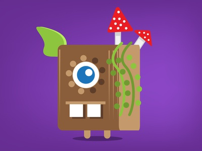 Monster Wednesday monster illustration pixar style flat original colorful square forest cute game cartoon