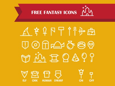 Free Fantasy Icons icons free fantasy vector sword simple shield bow axe rpg adventure flat