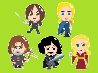 Game of Thrones Characters Stickers