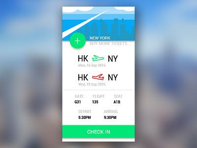 Flight App Concept material design transport city ny element ui flight airplane design flat concept app