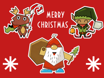 Christmas Funny Stickers