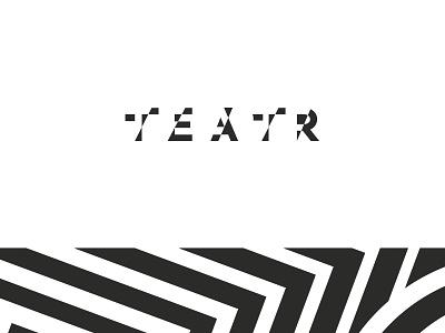 Teatr logo poland gliwice pałka palka mateuszpalka logotype typography contrast theater logo