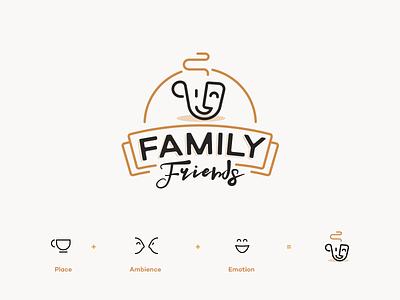 Family Friends - coffee shops logo silesia poland gliwice mateusz pałka symbol studio emotion logo cup logo coffee coffee logo