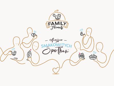Family Friends - key visual silesia poland gliwice mateusz pałka symbol studio cafe coffee shop illustration key visual