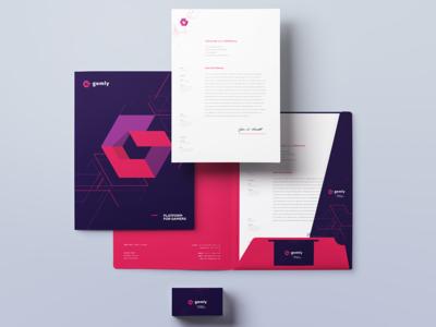 Gemly - platform for gamers branding design silesia poland mateusz pałka symbol studio game branding isometric isometric branding branding