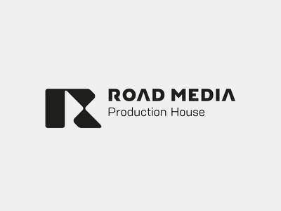 Road Media logo poland gliwice mateusz pałka symbol studio media r media logo video logo production house play logo r logo r letter
