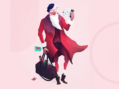 Santa 2020 - Extravagant hipster gliwice poland symbol studio santa claus illustraion christmas klaus santa