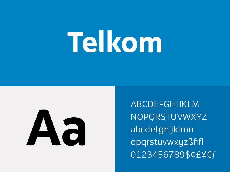 Telkom corporate typeface sans serif sans font type custom typeface corporate telkom