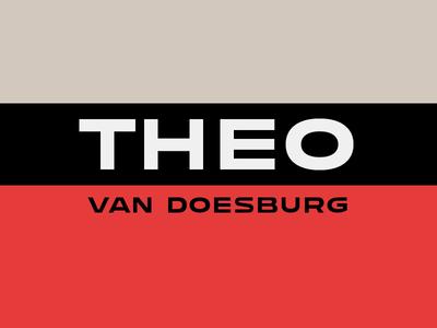 Theo Van Doesburg bauhaus capitals caps sans serif sans theo van doesburg van doesburg theo