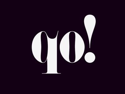 qo! contrast black serif